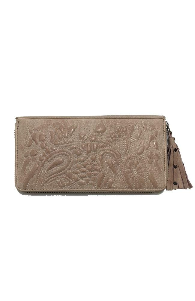 TAYLOR - Leather Clutch - Light Pink