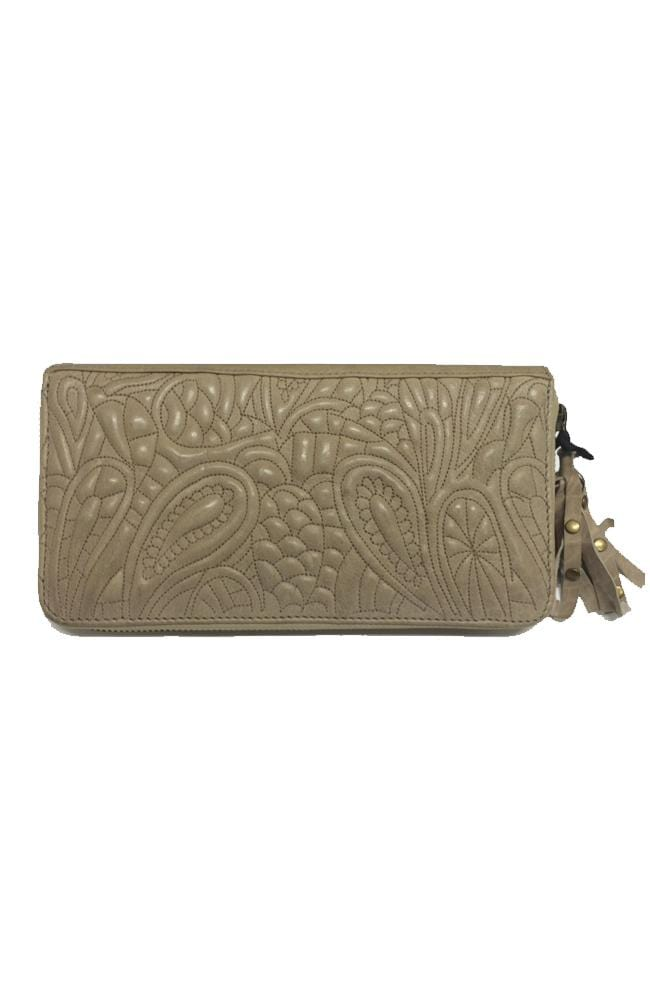 TAYLOR - Leather Clutch - Tan