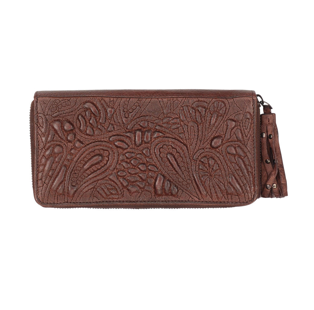 TAYLOR - Leather Clutch Bordo