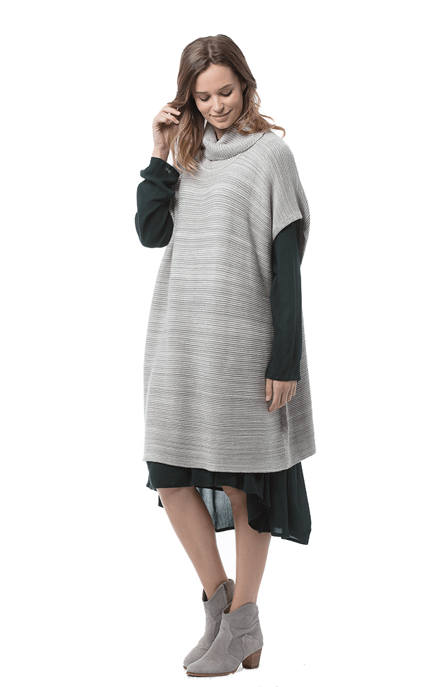 THALISA Jumper in soft Grey Melange