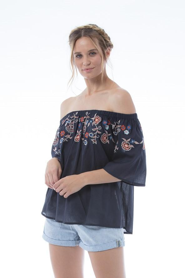 TIA Top - Navy