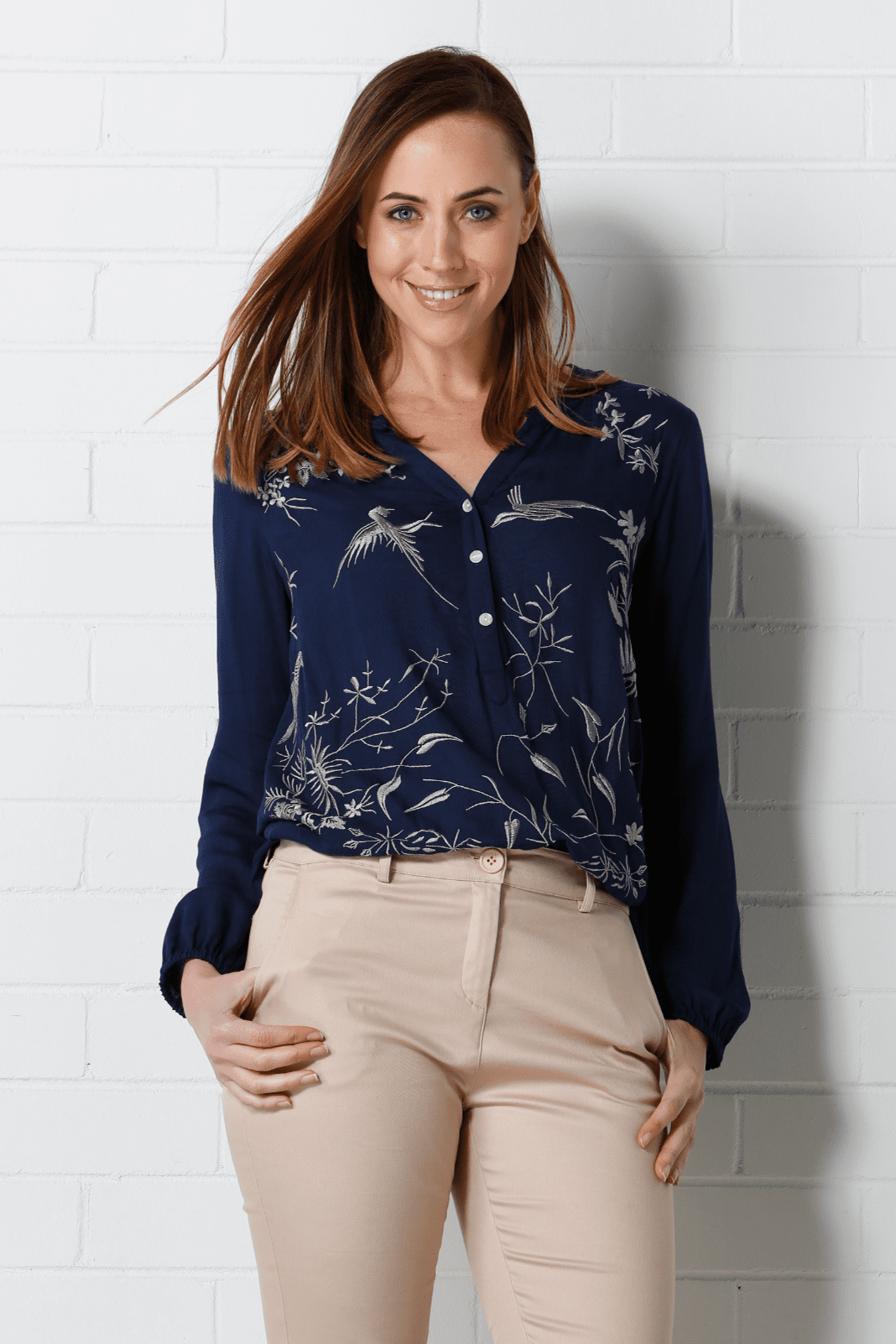 TIFFANY Top - Navy