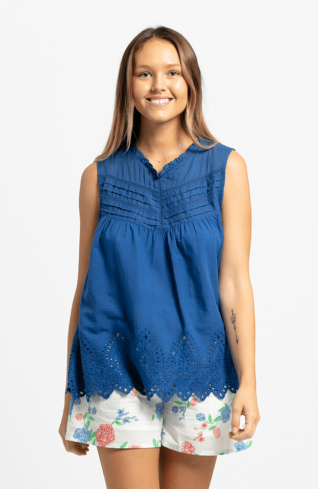 TILDE Top - Daphne Blue