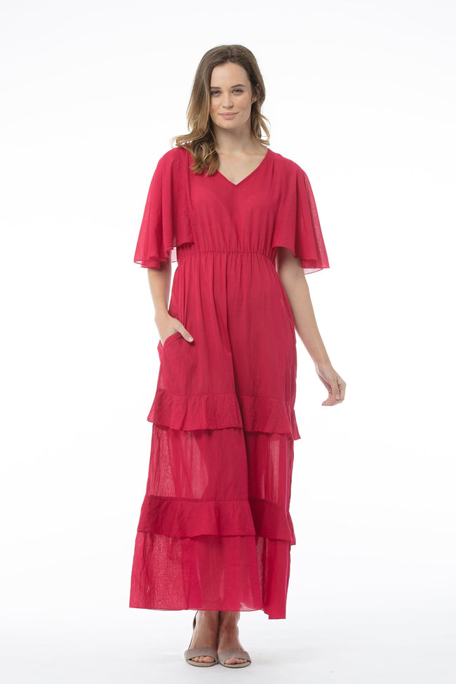 VALERIE Dress - Raspberry