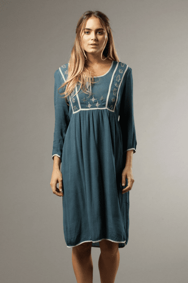 VANESSA - Dress in Vint Blue