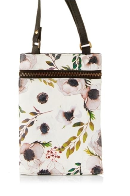 Venice Leather Travel Bag - Floral Print