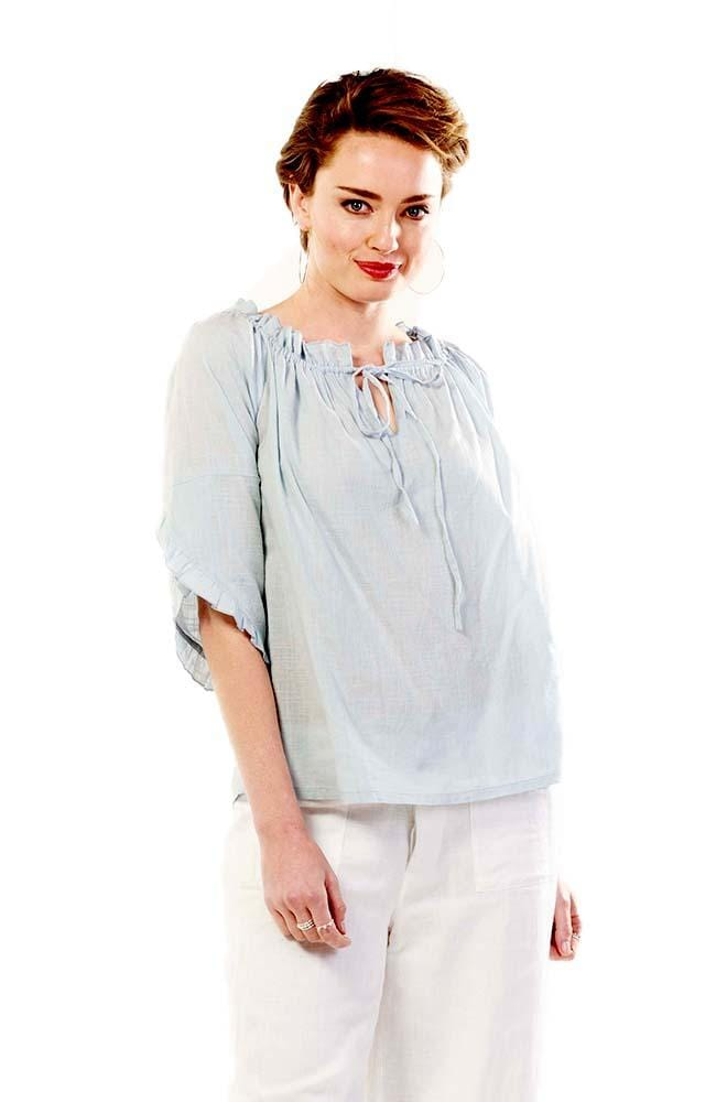 VIOLETTA Top - Light Blue