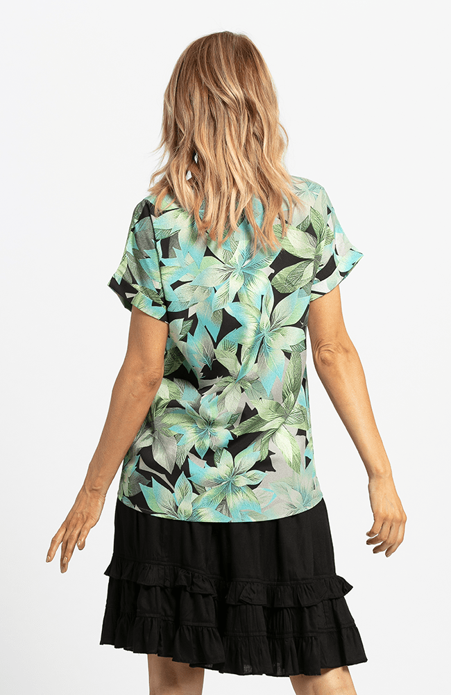 XIA Top - Green Print