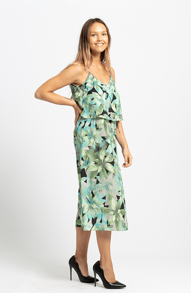 YASMINA Dress - Green Print