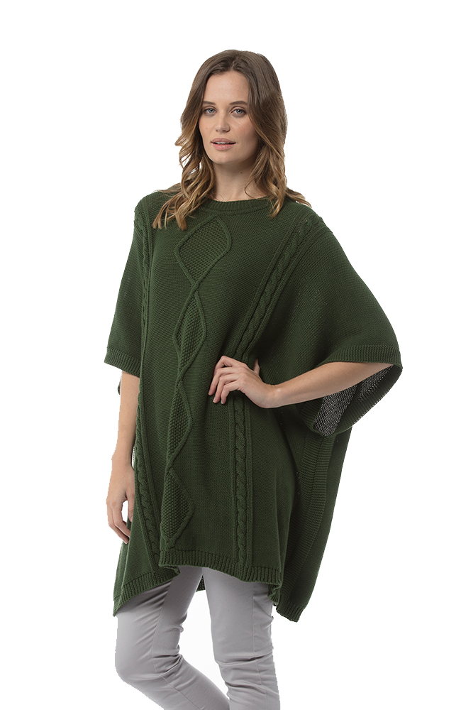 YONA Poncho - Forest Green