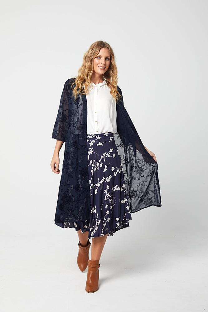 JOAN Skirt - Navy Print