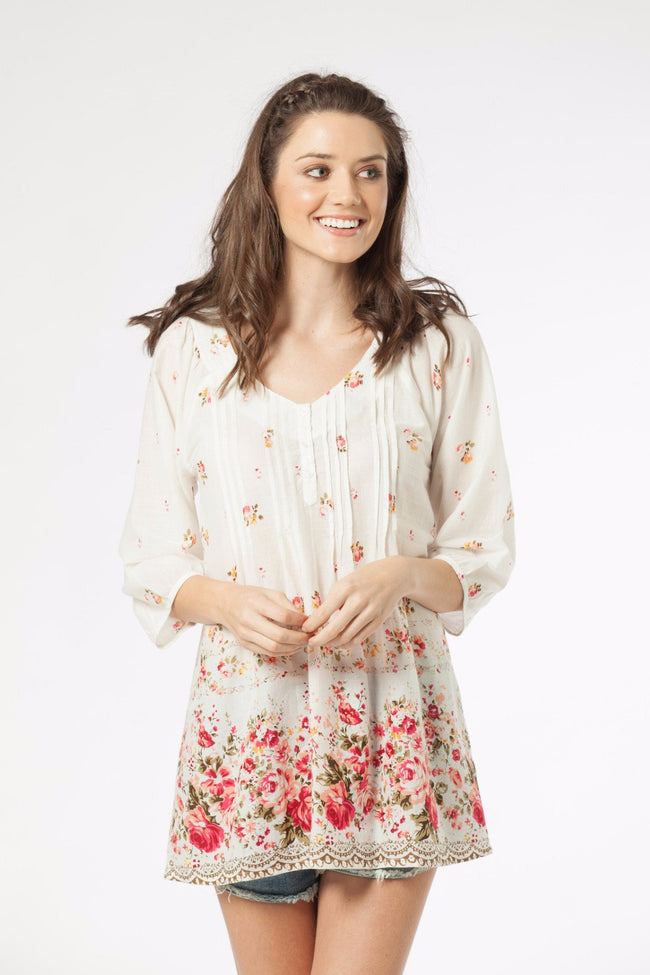 CARISSA - Tunic in Floral Print