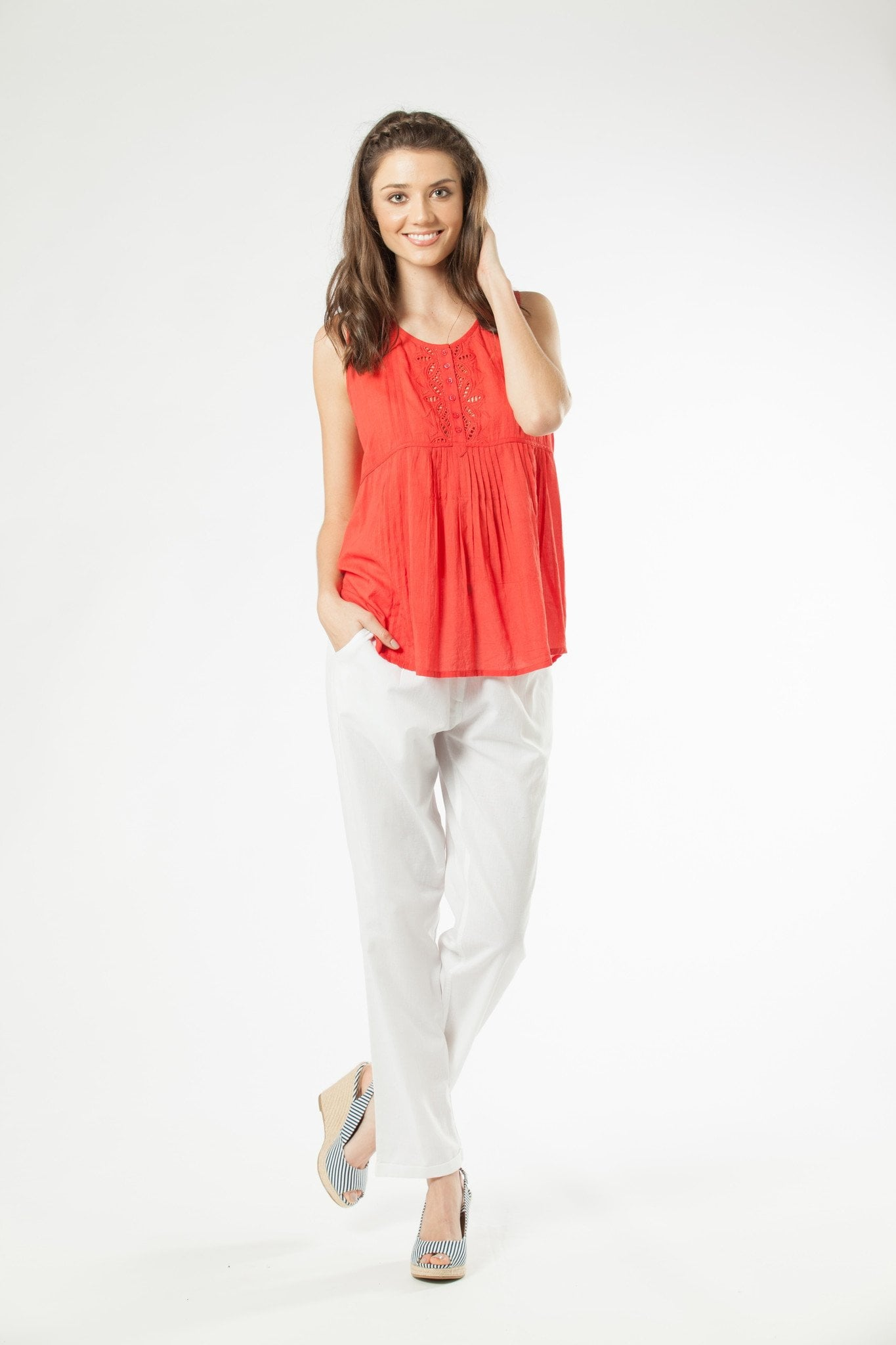 FAY - Trousers White