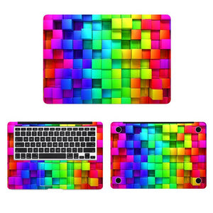 Rainbow 3D Cube Laptop Sticker