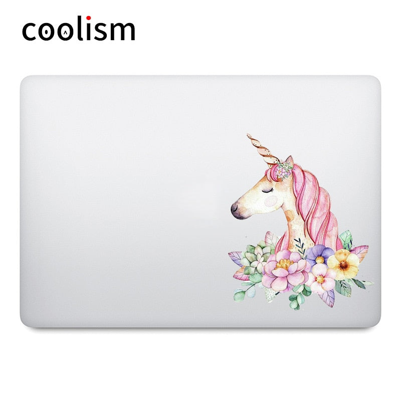 Unicorn Art Watercolor Painting Laptop Sticker for Apple MacBook Decal Air Pro Retina 11 12 13 15 inch HP Mac Book Skin Sticker