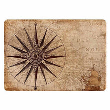 Load image into Gallery viewer, Vintage World Map Compass Laptop Sticker