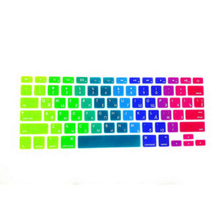 15 X Rainbow RUSSIAN Silicone US Keyboard Cover Skin