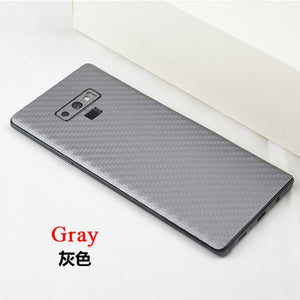 For Samsung Galaxy S10 9 8 7 Plus S10E Note 9 8 7 5 New 360 Degree Full Back Decal Skin 3D Carbon Fiber Phone Protective Sticker