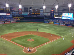 Justin F. Nosebleed seats at a Rays game