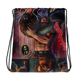 GJ Comic Book Panel Drawstring bag