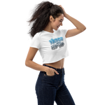 Nerdz And Hip Hop Crop Top Blue