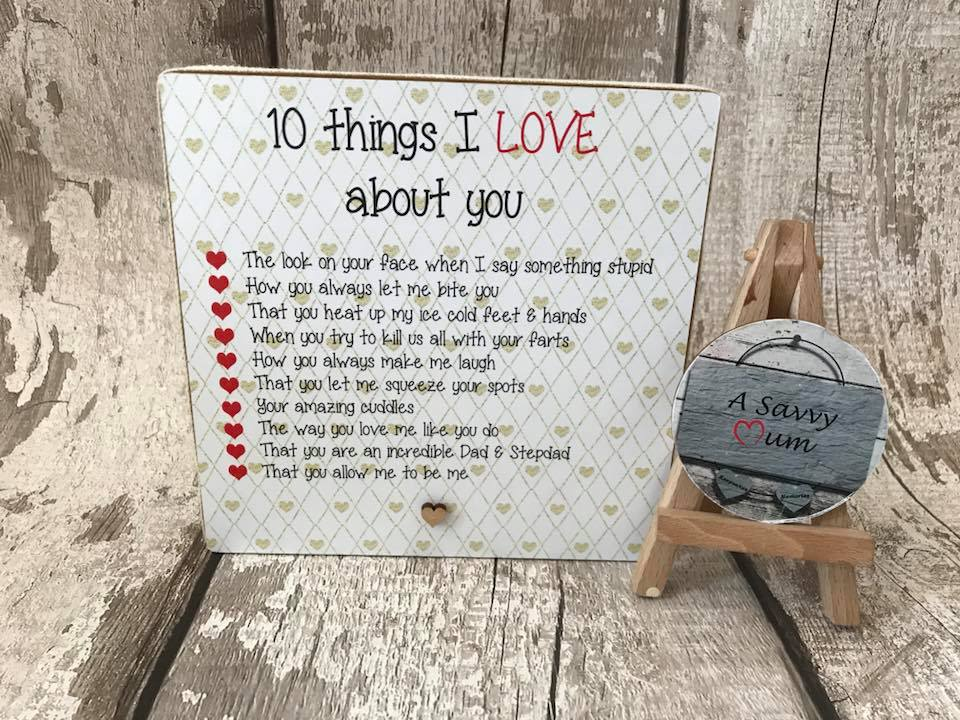10 Reasons Why I Love You Freestanding Plaque
