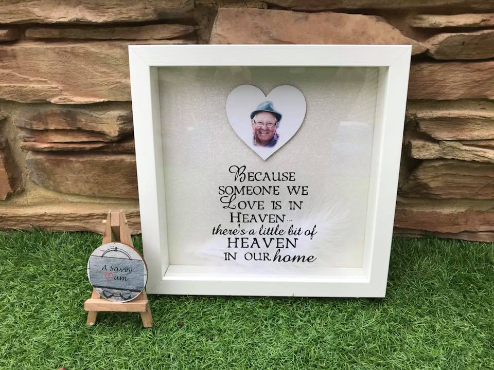 Because Someone We Love Is In Heaven Heart Photo Frame
