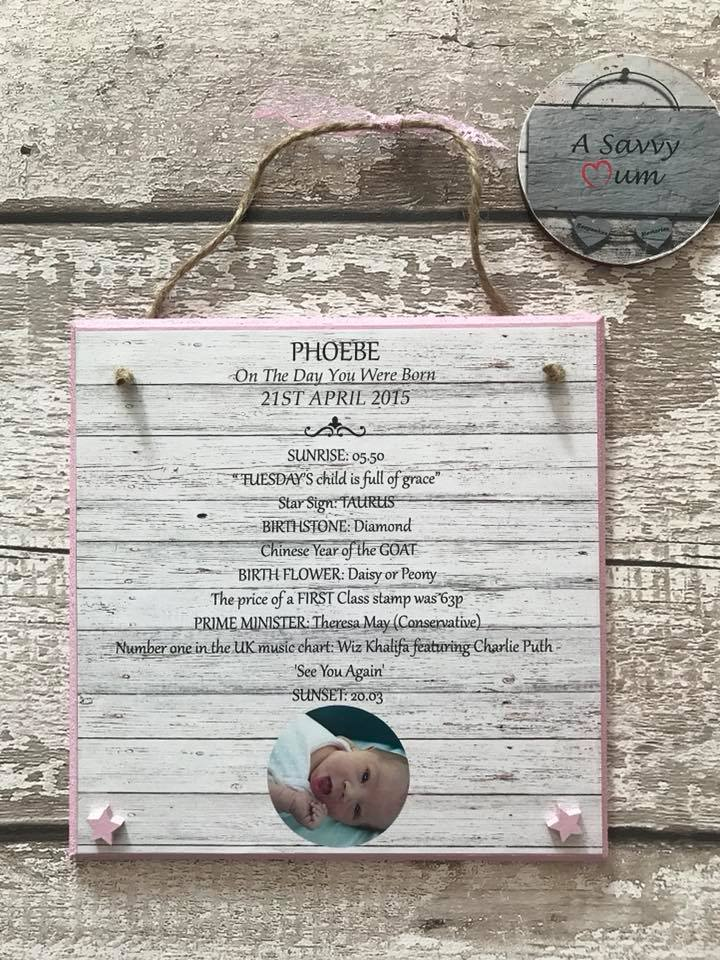 On The Day You Were Born Birthday Plaque