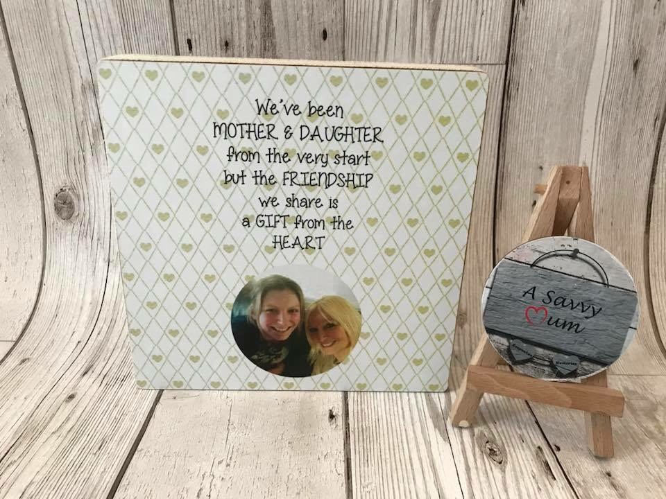 Mother and Daughter/Son Plaque