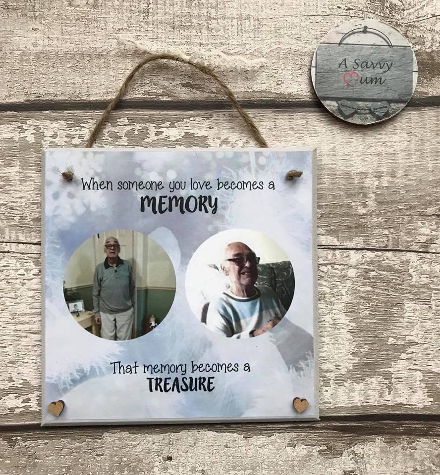 When Someone You Love Becomes A Memory Photo Plaque