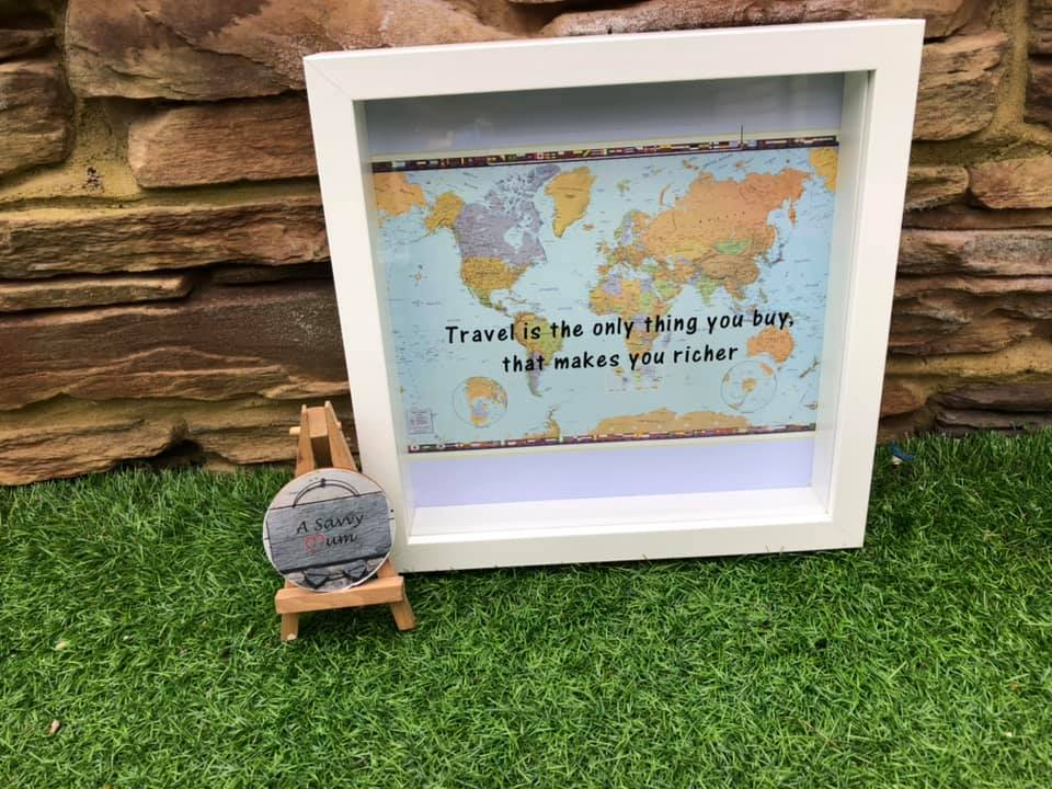 Adventure Travel Fund Moneybox Frame