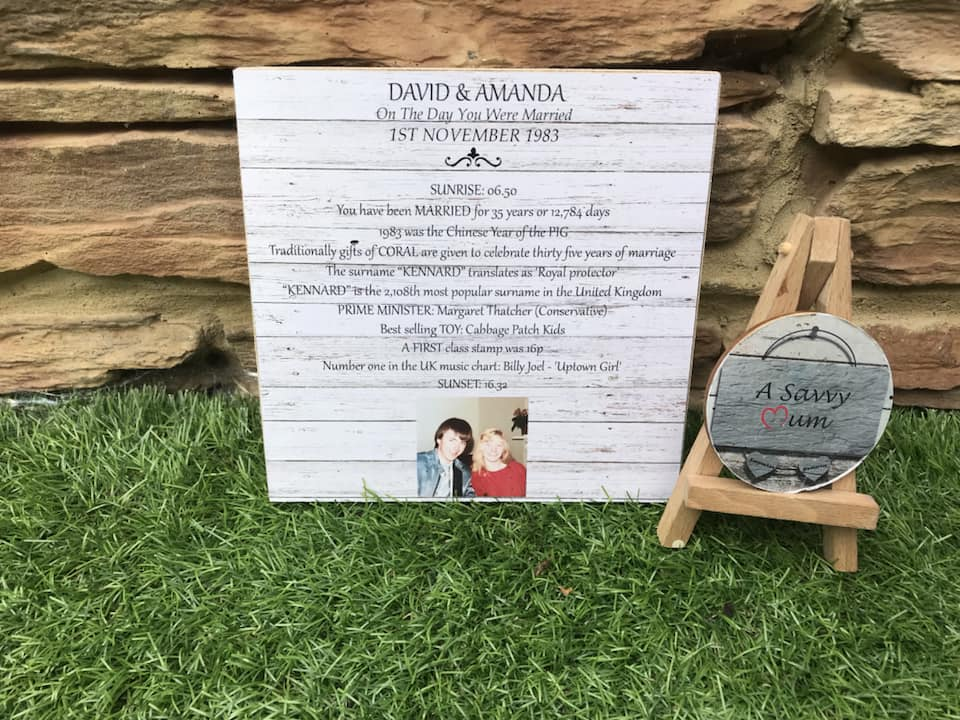 Anniversary Facts Photo Plaque