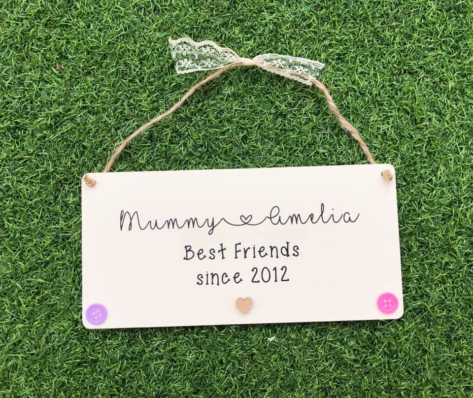 Mummy/Daddy Is My Best Friend Plaque