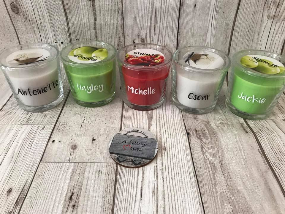 Personalised Teacher Candles