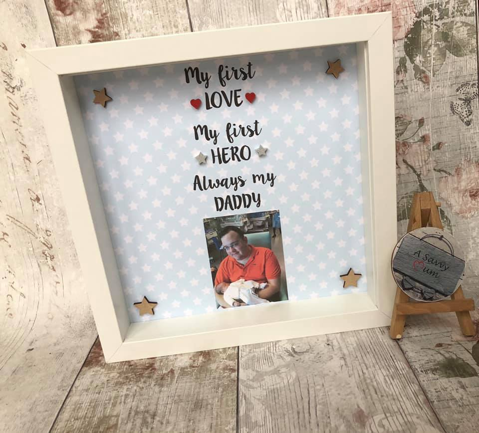 Daddy Is My First Love/Hero Photo Frame