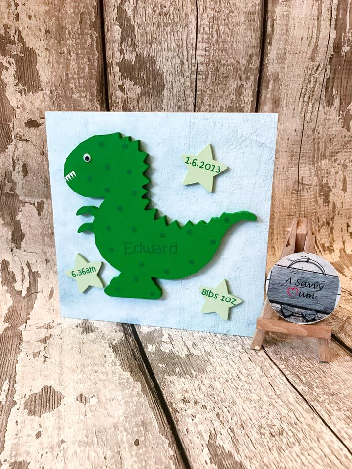 Freestanding Dinosaur Name Plaque
