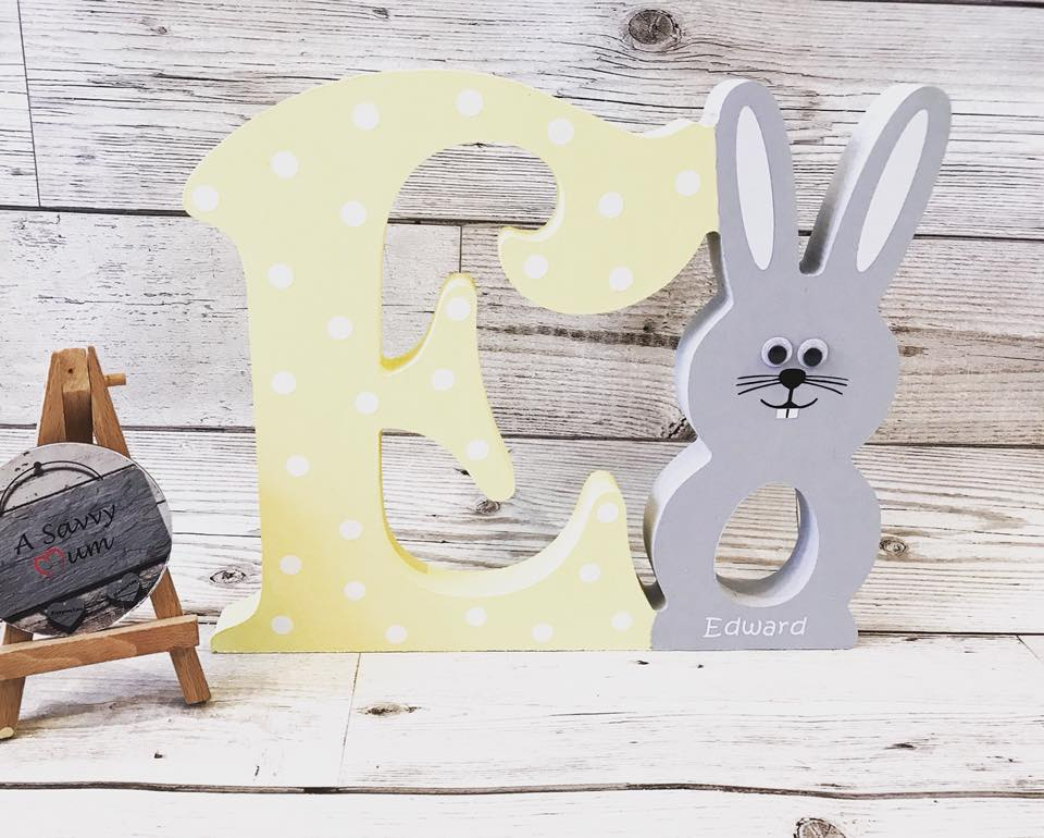 Easter Bunny Initial Letter