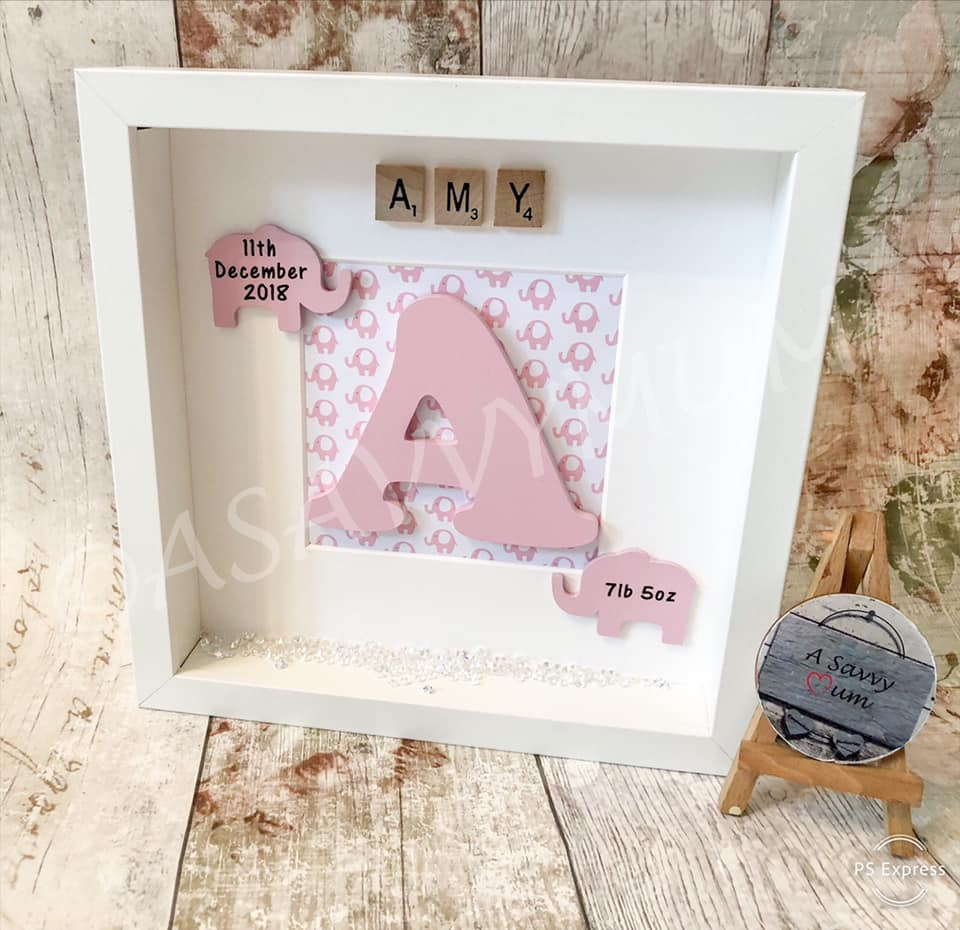Personalised Elephant Newborn Frame