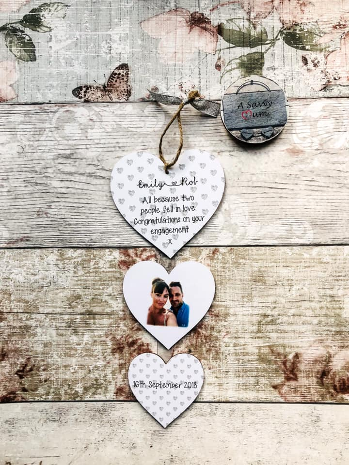 Engagement Hanging Heart Photo Set