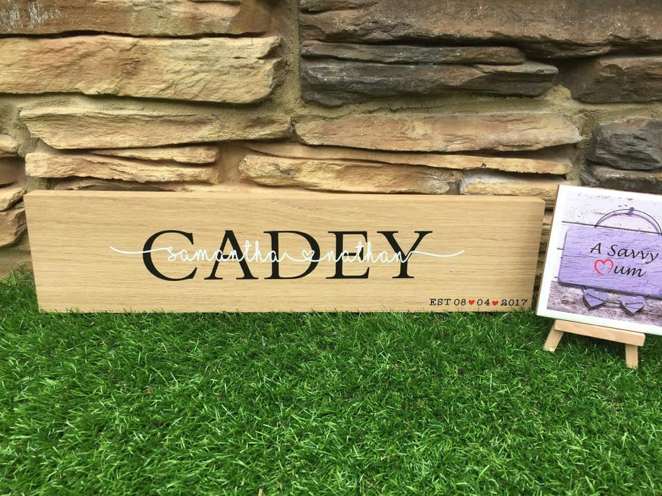 Wooden Family Surname Sign