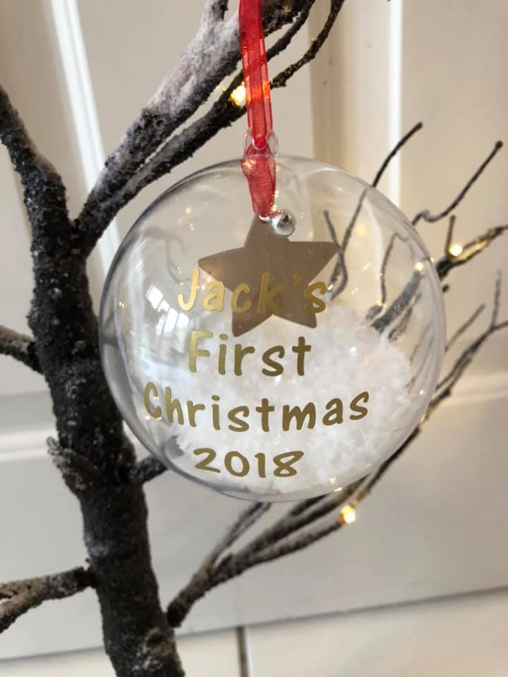 My First Christmas Tree Bauble