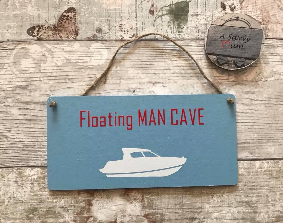 Floating Man Cave Plaque