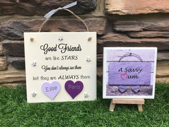 Good Friends Are Like Stars Plaque