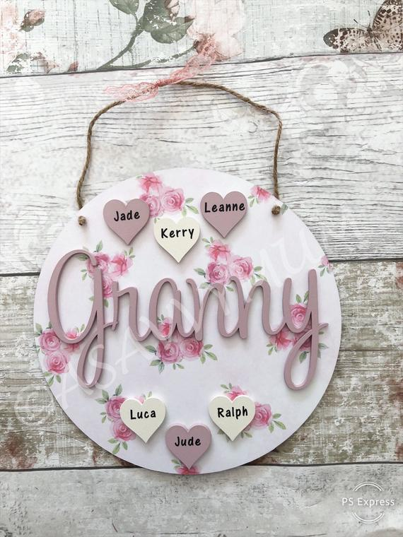 Floral Circle Name Plaque