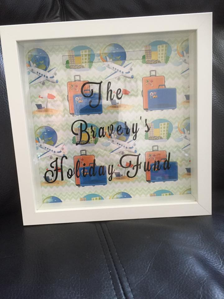Holiday Fund Moneybox Frame