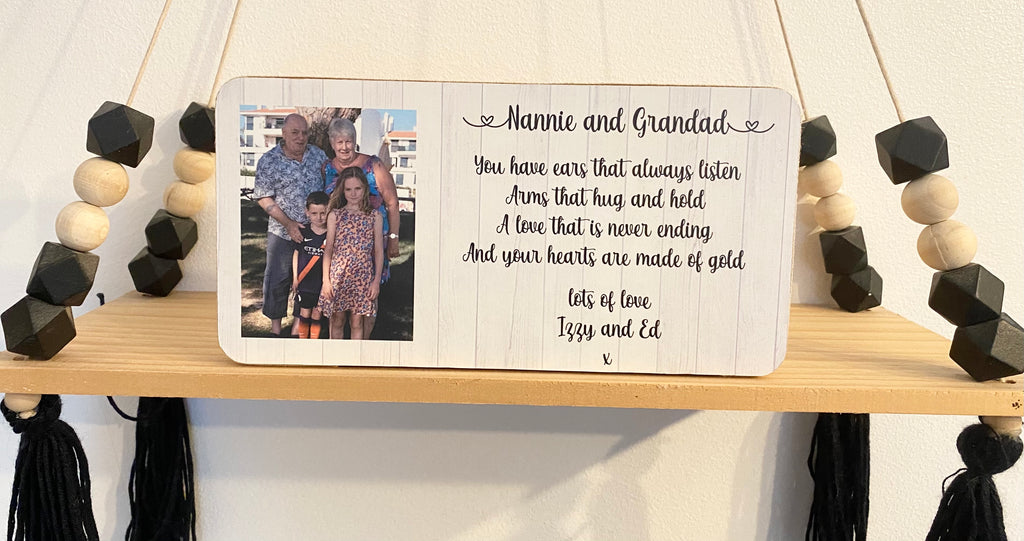 Personalised Photo Block- Add Your Own Wording