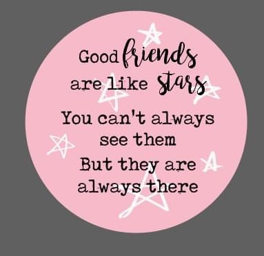 Good Friends Are Like Stars Token