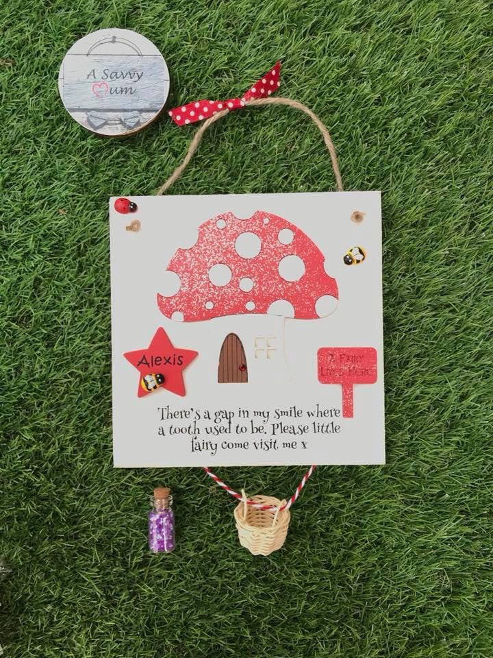 Toadstool Tooth Fairy Plaque