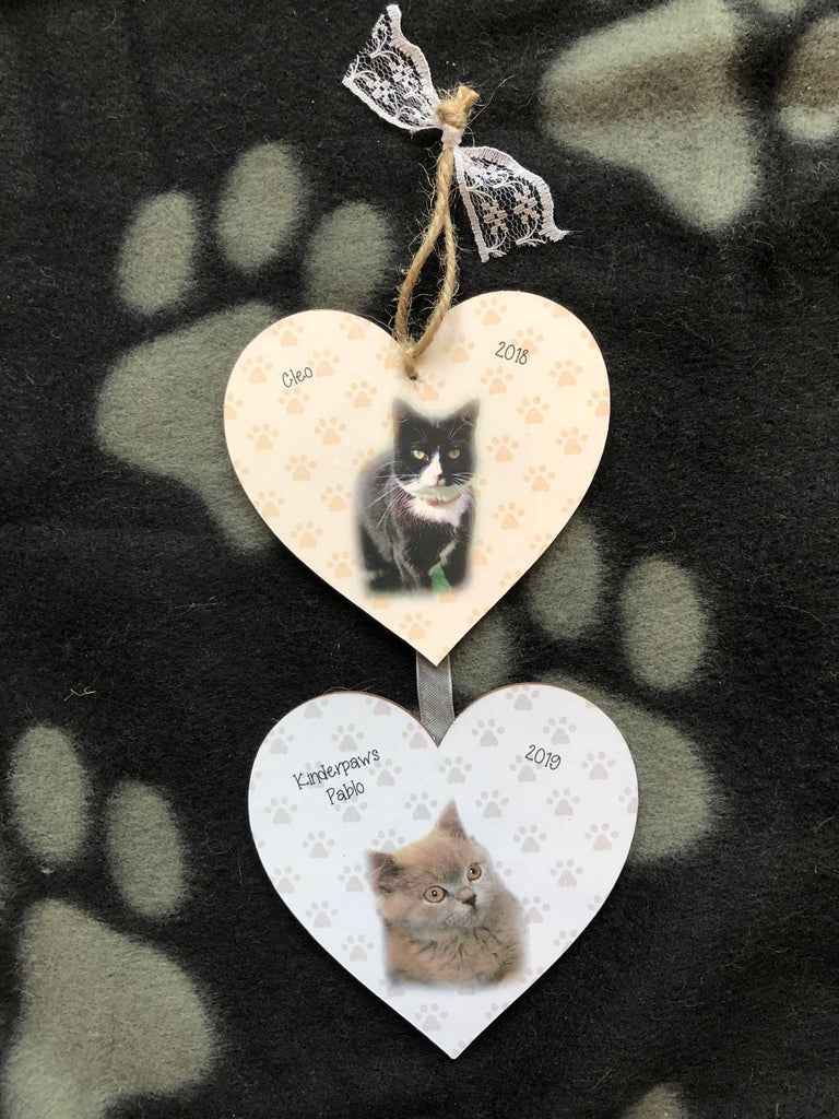 Personalised Pet Hanging Heart