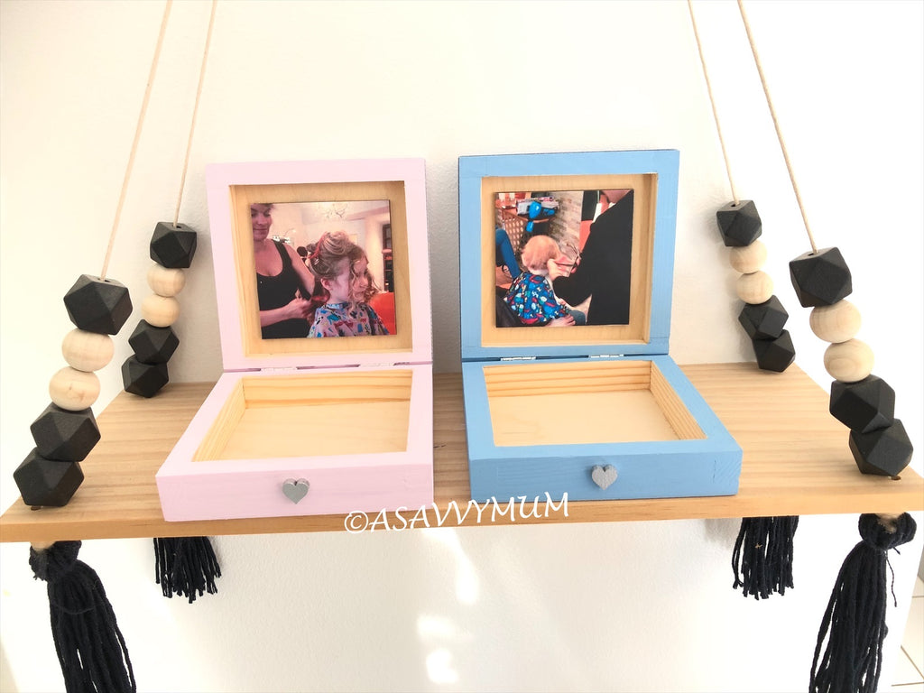 First Haircut Keepsake Box With Photo